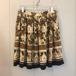 VINTAGE Fit & Flare Animal Print Skirt sz 6